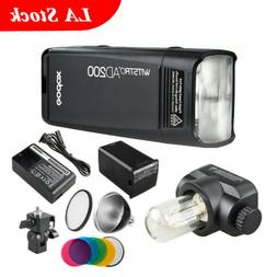 Godox 2.4G HSS TTL AD200 Camera Flash Speedlite F Canon Cano