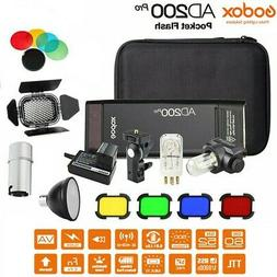 Godox AD200pro 2.4G TTL HSS 1/8000s Pocket Flash Kit w/AD-S2