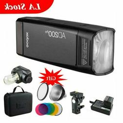 Godox AD200Pro Pocket Flash Speedlite 2.4G TTL HSS 200Ws Dua