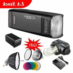 Godox AD200Pro Pocket Flash Speedlite Dual Head 65cm Softbox