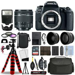 Canon EOS 77D DSLR Camera with 18-55mm STM + 16GB 3 Lens Ult