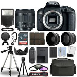 Canon EOS 800D SLR Camera Body + 3 Lens Kit 18-55mm IS STM +
