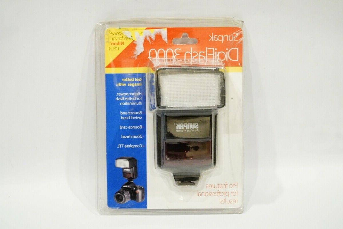 digiflash 3000 electronic flash for canon dslr