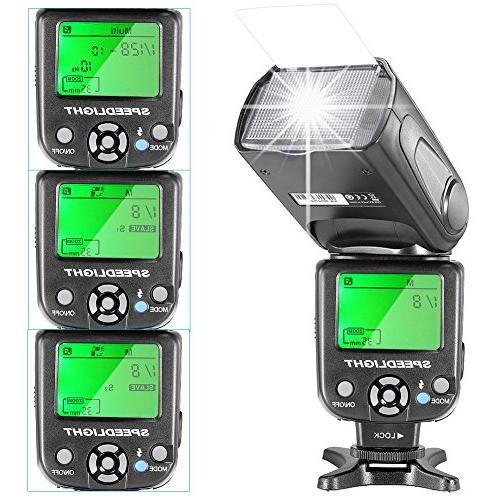 Neewer NW-561 Manual LCD Display Speedlite Flash and Includes: Diffuser, CT-16