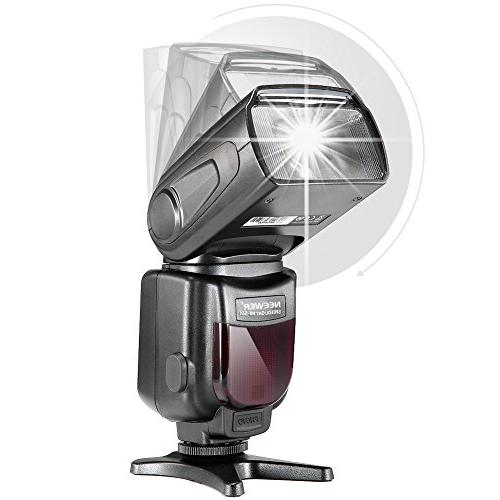 Neewer Manual LCD Display Speedlite and Includes: Diffuser, Wireless Trigger