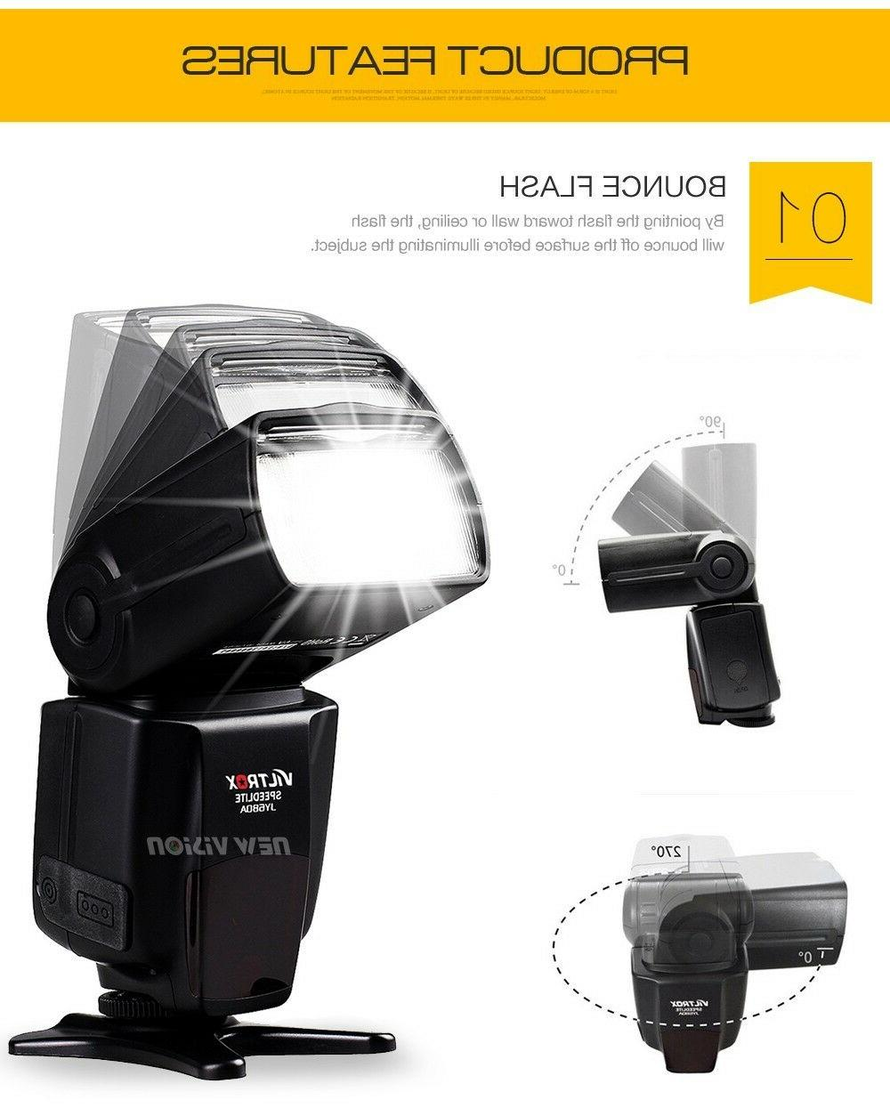 Universal Flash for Canon Nikon Olympus with GIFTS