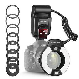 Neewer Macro TTL Ring Flash Light with AF Assist Lamp for Ca