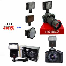 PRO SWIVEL BOUNCE ZOOM FLASH + PRO HD LED LIGHT FOR CANON EO