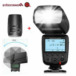 Slave Camera Flash Light Speedlite & 2.4G Wireless Trigger f