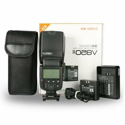 US Godox V850II GN60 Speedlite with 2000mAh Battery f Canon