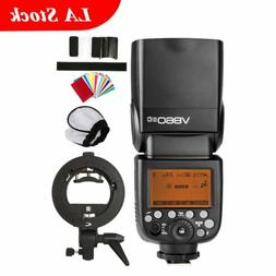 Godox V860II-C TTL Camera Flash Speedlite Bowens Bracket For