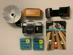 Vintage Canonflex RP, SuperCanomatic Lens, Canon Flash Unit,