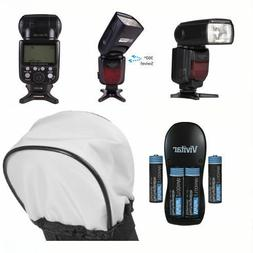 VIVITAR DEDICATED FLASH + ACCESSORY KIT FOR CANON EOS REBEL