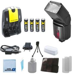 XIT XT500EX Flash, Rech Battery, Home/Car Charger for Canon