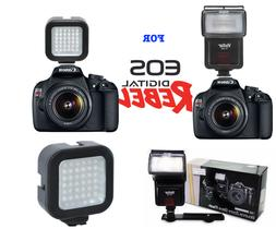 ZOOM BOUNCE FLASH + 36 LIGHT LED FOR CANON EOS REBEL T3 T3I
