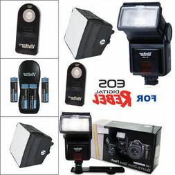ZOOM LED FLASH + CHARGER + DIFFUSER + BATTERIES + REMOTE FOR